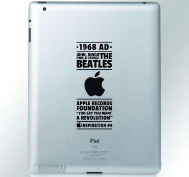 Beatles Inspiration iPad Sticker