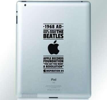 Beatles Inspiration iPad Sticker
