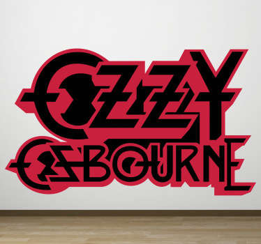 Sticker decorativo logo Ozzy Osbourne