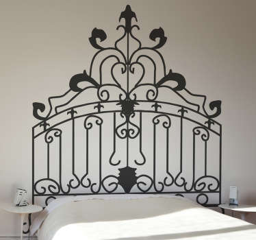 Headboards - Distinctive decoration feature above your bed. Rococo themed wall sticker available in 50 colours and various sizes.
