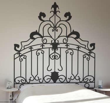 Vinil decorativo cabeceiro cama estilo rococó