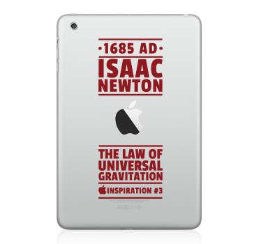 Skin adesiva per iPad ispirazione Newton