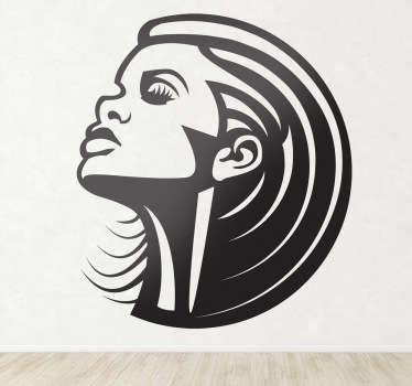 Sticker decorativo ritratto Rihanna