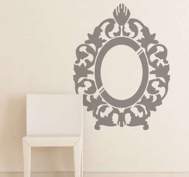 This wall sticker has an attractive design of a rococo mirror which is perfect to give your home a touch of elegance!