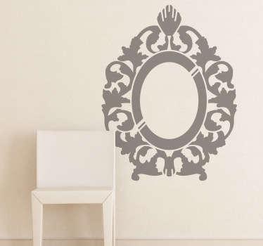 Rococo Mirror Decorative Decal