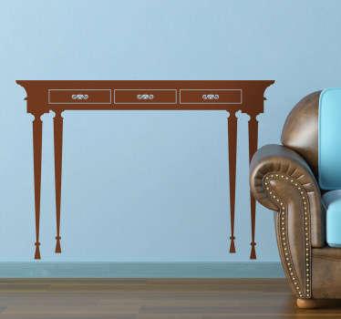 Vinilo decorativo mesa clásica fina