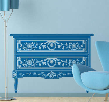 Decorative Table with Drawers Sticker