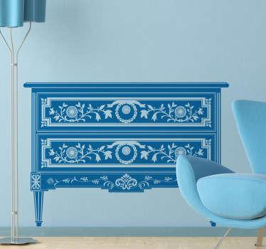 Naklejka dekoracyjna ozdoby stolik z szufladami