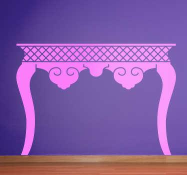 Vinilo decorativo silueta mesa clásica
