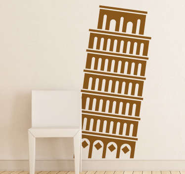Vinilo decorativo icono Torre de Pisa