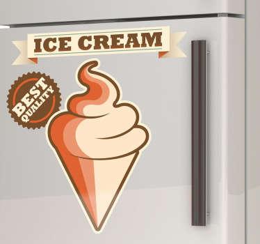 Sticker decorativo pubblicità gelato