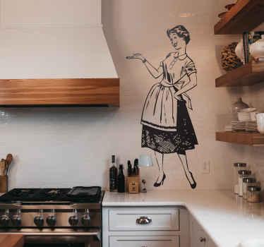 Hausfrau Aufkleber