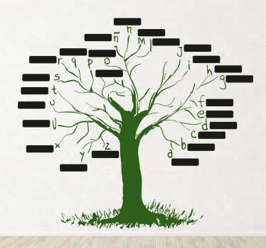 Sticker decorativo albero milleparole