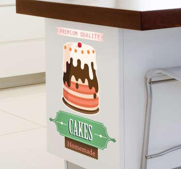 Naklejka tort retro