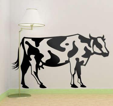 Sticker mural monochrome vache