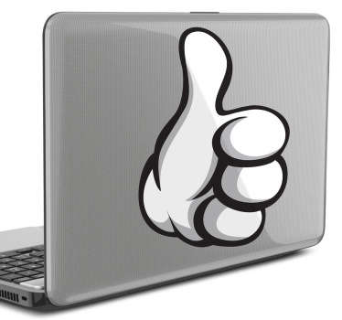 Thumbs Up Laptop Sticker