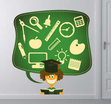 School Student Thoughts Decorative Sticker