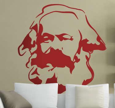Vinilo decorativo retrato Karl Marx