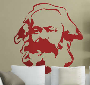 Adesivo murale volto Karl Marx