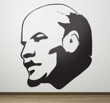 Amazing original wall sticker of the silhouette of the famous Russian revolutionary leader, Lenin. Available in 50 different colors.