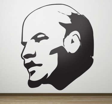 Adesivo murale volto Lenin