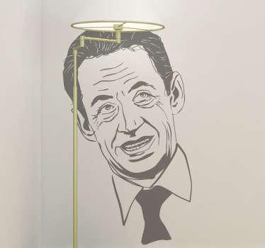 Vinilo decorativo retrato Sarkozy