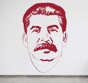 Stencil muro ritratto Stalin