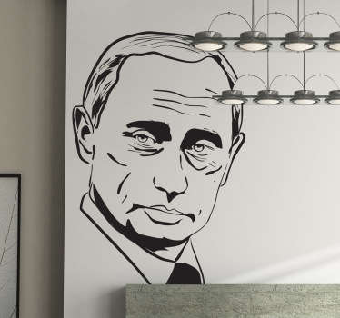 A mono-colour portrait sticker of the famous and controversial president of Russia.