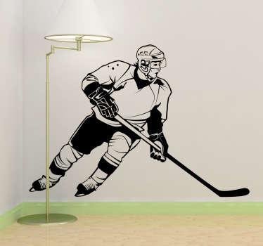 Wandtattoo Eishockey Spieler