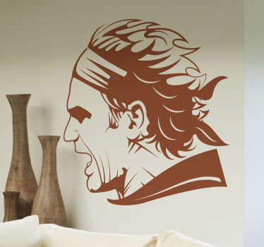 Roger Federer is consider one of the greatest tennis players ever, so if you are a huge fan then this sports wall sticker is perfect for you.