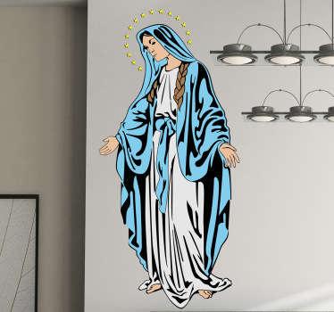 Autocolante de parede religioso da Virgem Maria