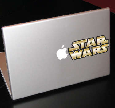Personaliza tu dispositivo Mac con un adhesivo decorativo. ¡Pon en marcha tu Mac y prepárate para saltar al hiperespacio!