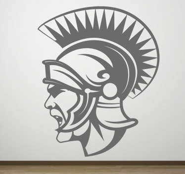Centurion profiel muursticker