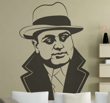 Sticker decorativo busto Al Capone