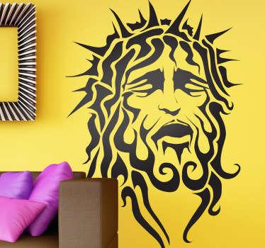 Naklejka dekoracyjna Jezus z koroną cierniową