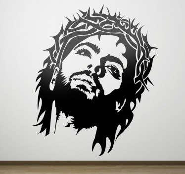 Naklejka dekoracyjna Jezus w koronie