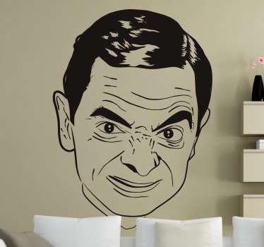 Sticker decorativo viso Mr Bean