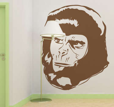 A detailed silhouette wall sticker of one of the characters from the sci-fi movie saga, The Planet of the Apes.