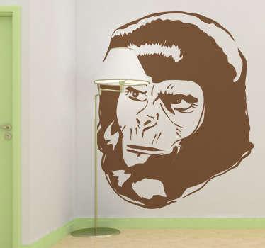 Sticker portrait planète des singes