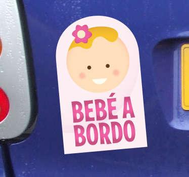 Etiqueta adhesiva bebé a bordo