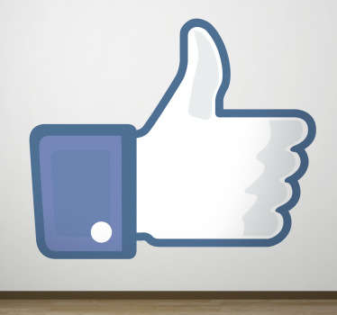 Social Media - Decal of the Facebook like icon. Ideal for users of the social network platform. Available in various sizes.
