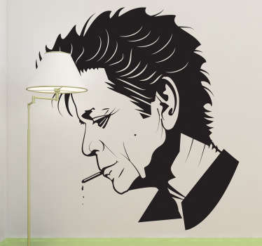 Autocollant mural portrait Lou Reed