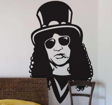 Naklejka dekoracyjna z popiersiem muzyka zespołu Guns N' Roses.