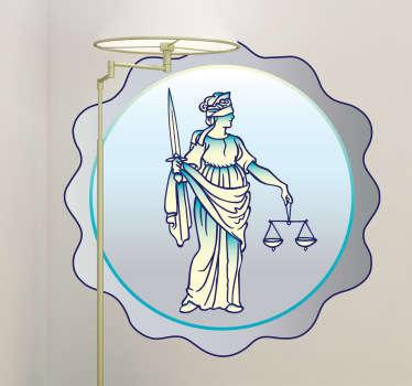 Justice Medal Wall Sticker