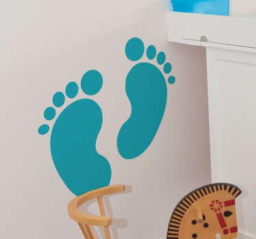 Baby footsteps vägg klistermärke