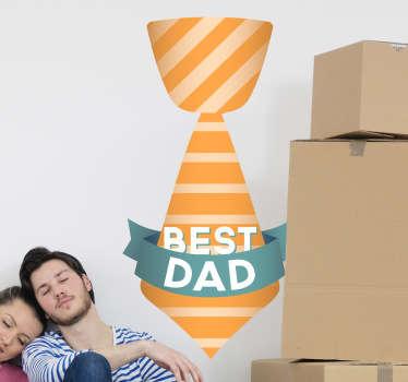 Best Dad Tie Sticker