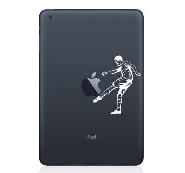 Mac Stickers - Football themed sticker. Great for customising your mac or iPad device.
