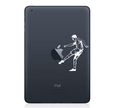 Fodboldspiller silhuet laptop sticker