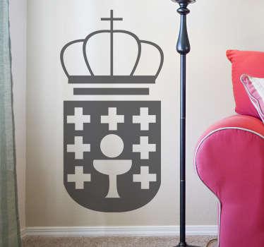 Adhesivo monocolor escudo Galicia