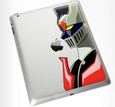 Personaliza tu dispositivo Mac con un adhesivo decorativo. Decora tu Ipad con una pegatina de Mazinger Z. Crea un complemento único, diferente y especial con el que todo el mundo quedará asombrado.